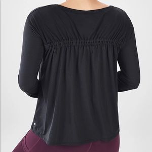Fabletics Long Sleeve Cinched Back Top